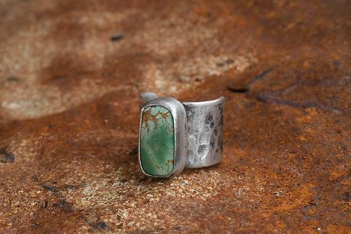 Hammered Variscite Ring