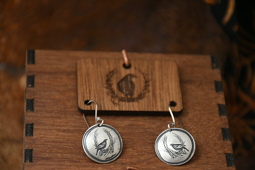 Little Bowerbird Disc earrings