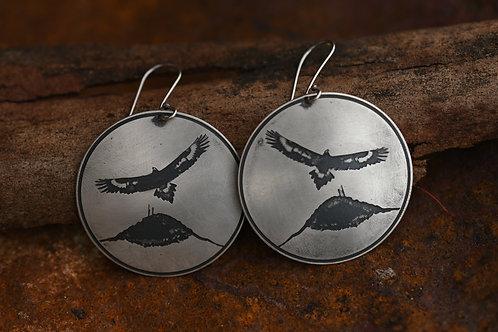 Gillamatong Eagle Earrings