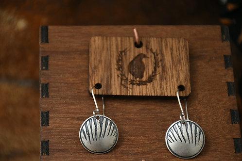 Little Thylacine Disc earrings
