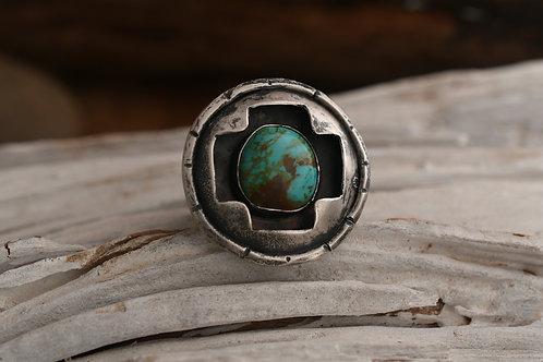 Shadowbox Cross Ring