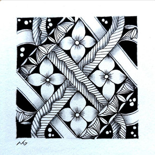 Miimis Zentangle with Keltic knot and Me