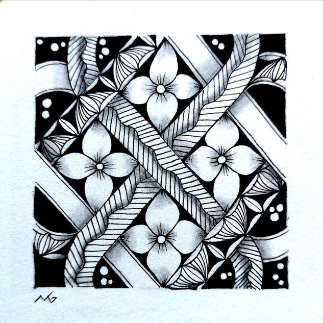 Miimis Zentangle with Keltic knot and Me