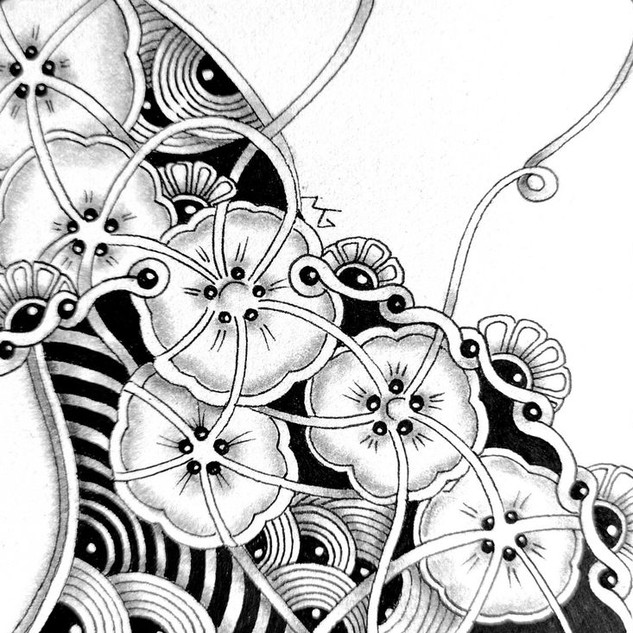Miimis Zentangle with Blooming  Butter C