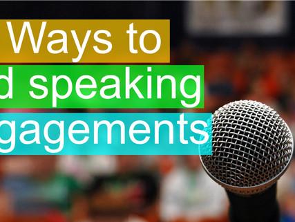 17 Ways to find speaking engagements