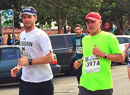Eric running Oakland 1/2 marathon