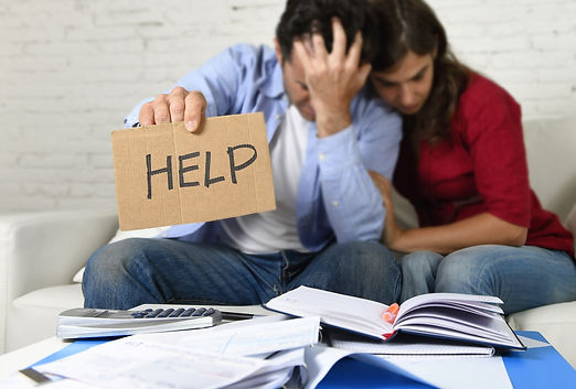 Couple stressed out over money needing help