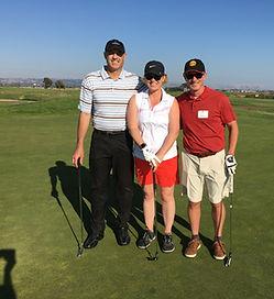 Chris, Sarah & Eric golfing