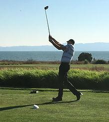 Chris golfing