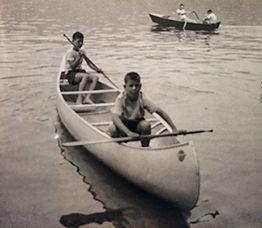 Charlie in 1961 in canoe