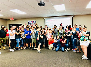 Group Class Picture From Tactical Concealed Carry.  Student Have Fun Learning Concealed Carry And Conealed Weapons Training. Gun Safety Is Also A Big Part Of The Training.  Students Enjoy The Interactive Self Defense Lessons They Learn