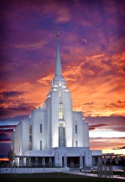 Rexburg Idaho Temple Sunset