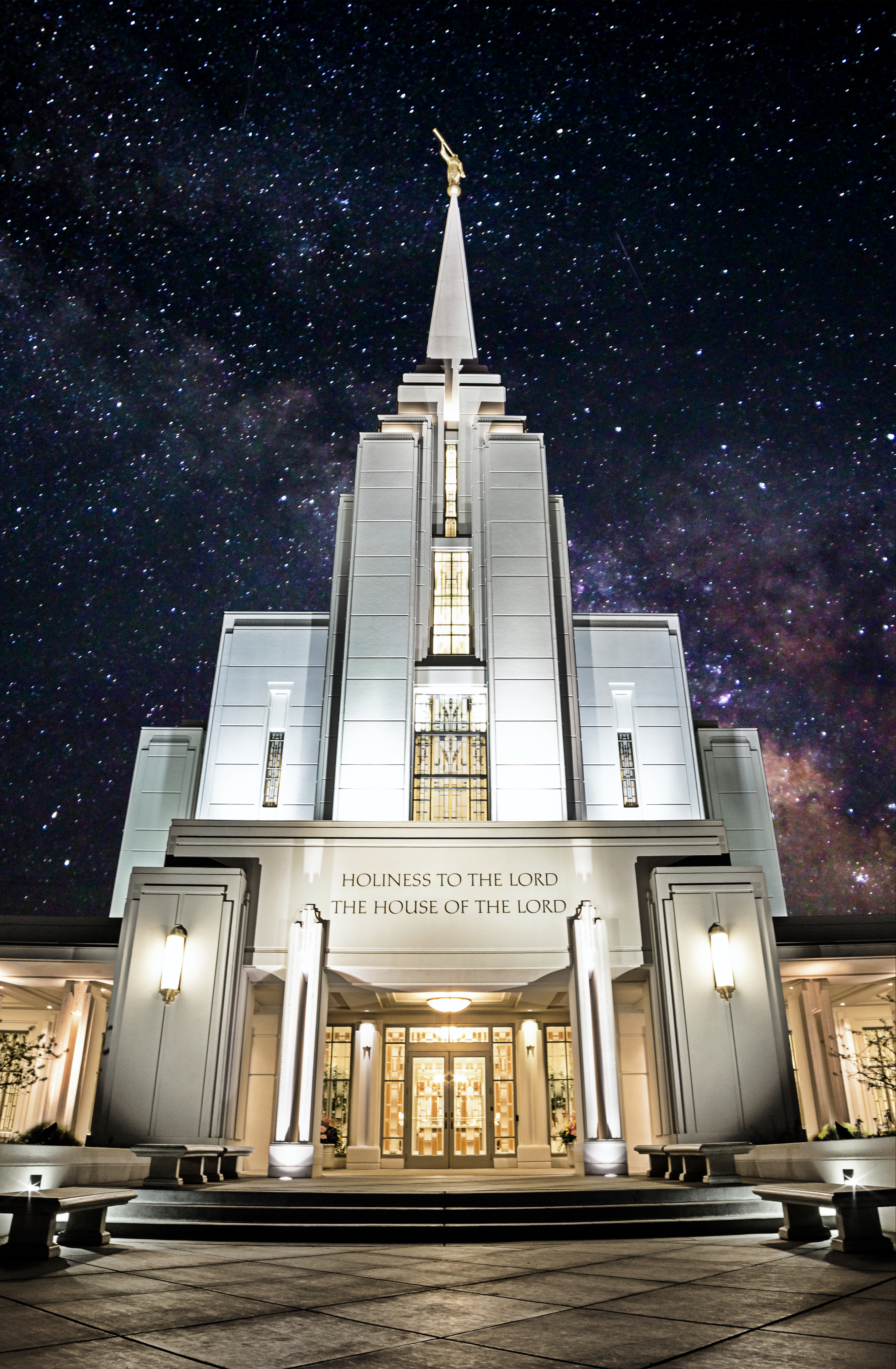 Rexburg Idaho Temple Milky Way