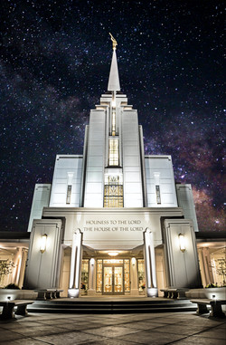 Rexburg Idaho Temple Milky Way