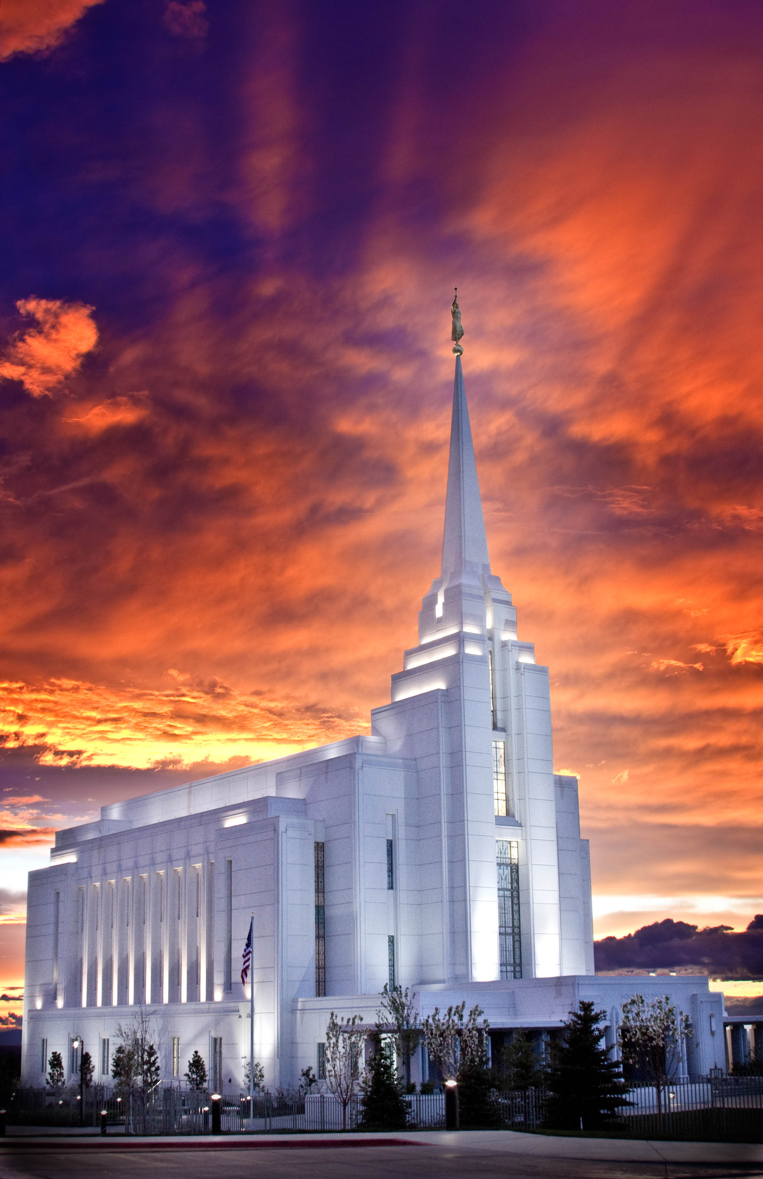 Rexburg Idaho Temple Sunset