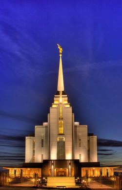 Rexburg Idaho Temple HDR