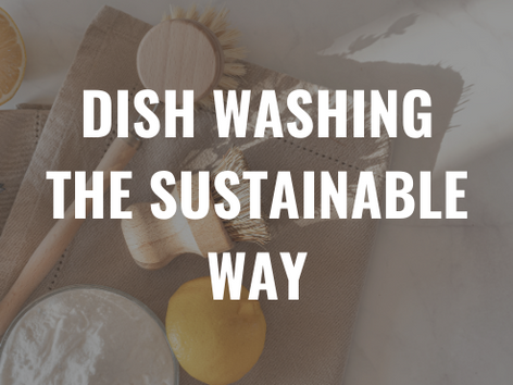 Dish Washing - The Sustainable Way