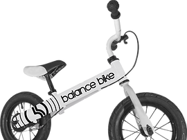 White Metal Balance Bike