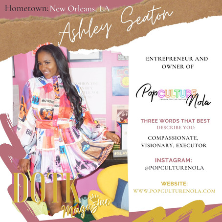 Meet the Owner of POP CULTURE CLOTHING BOUTIQUE: Ashley Seaton