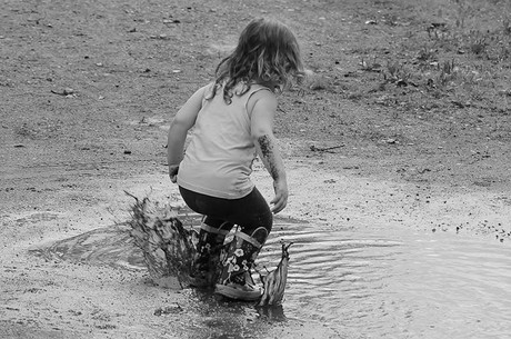 Jumping in muddy puddles