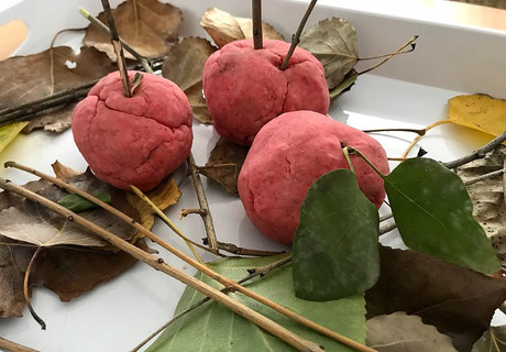 Apple spice playdough