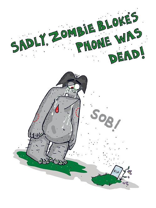 Zombie Bloke Greetings Cards