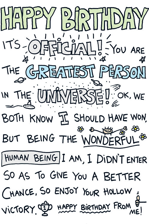Write On - Greatest Person in the Universe