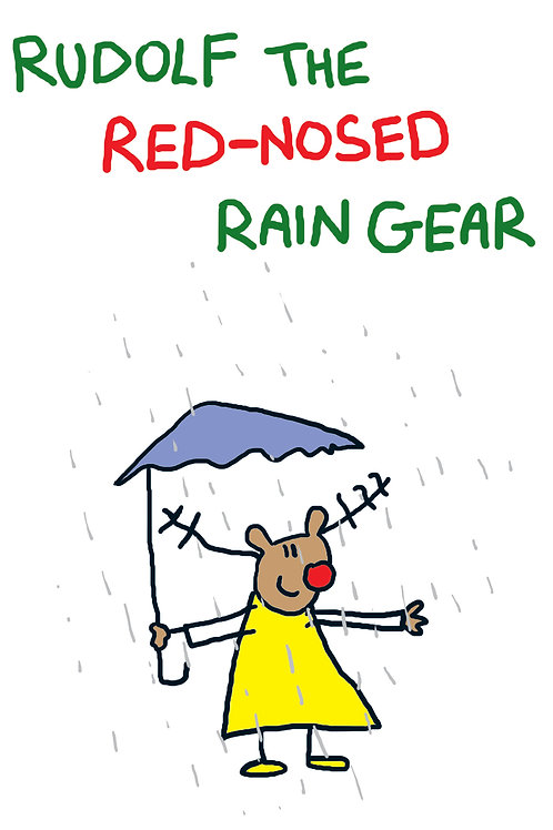 Red nosed rain gear