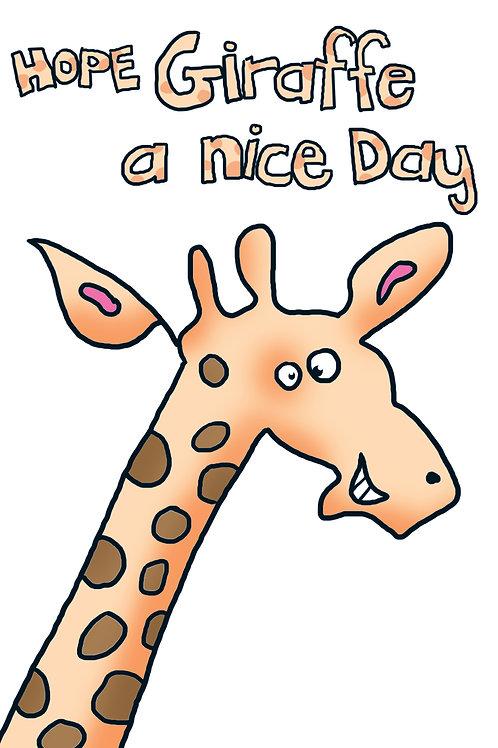 Funnymals - Hope Giraffe a nice day
