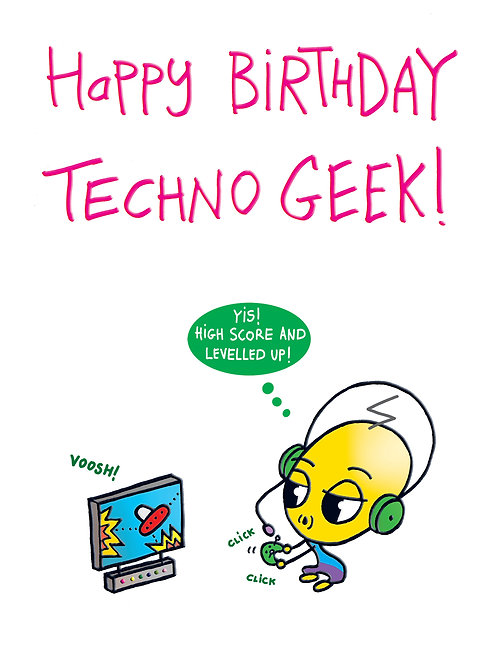 Lickle Alien -Happy Birthday Techno Geek!