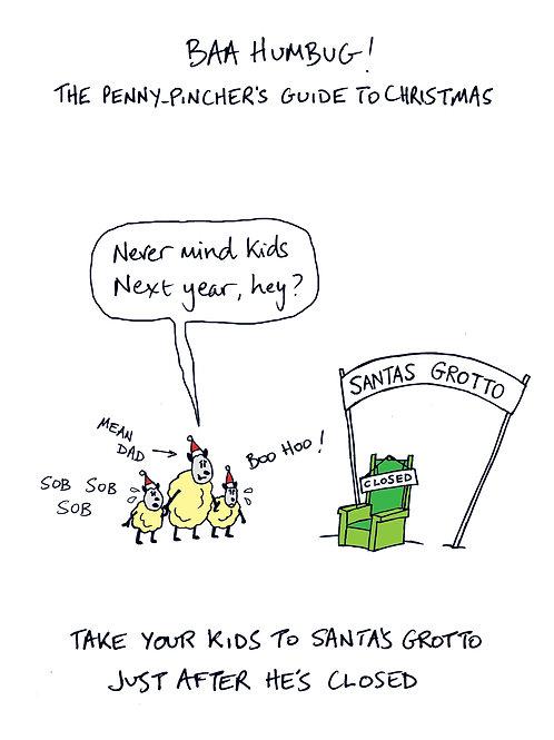 Baa Humbug - Take your kids to Santa's grotto