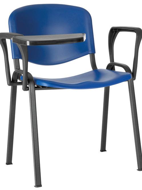 Sedia 4 gambe in ABS con tavoletta