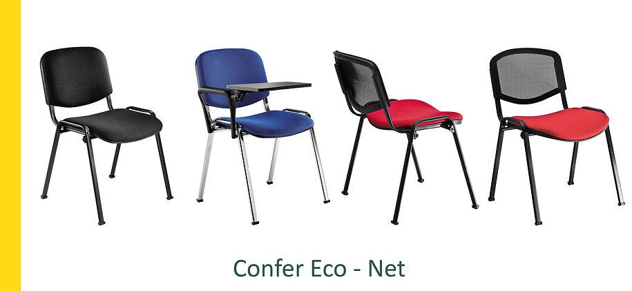 Sedia per sale conferenze, sale attesa Confer Net Eco