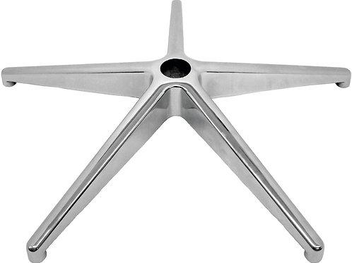 Base per poltrone operative piramidale alluminio lucido