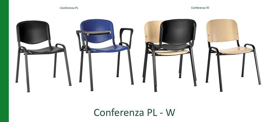 Sedia per conferenze polipropilene