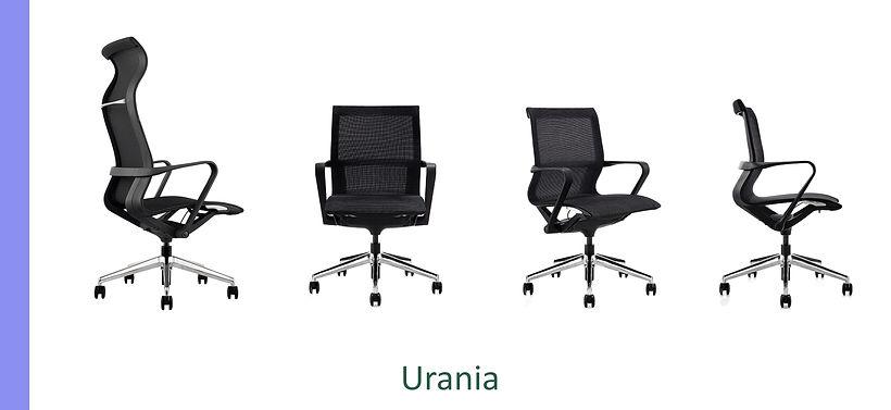 Poltrona Direzionale Urania schienale in rete