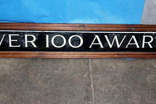Over 100 Awards Gold Leaf Sign