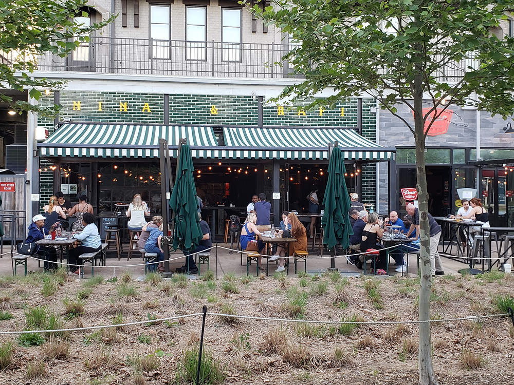 Nina & Rafi patio dining on Atlanta BeltLine