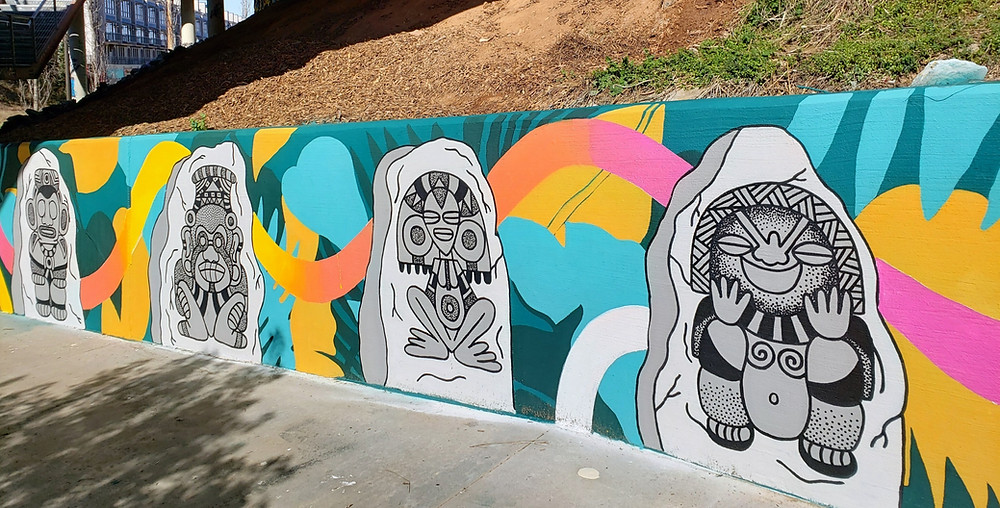 Mural by arrrtaddict in Art on the Atlanta BeltLine