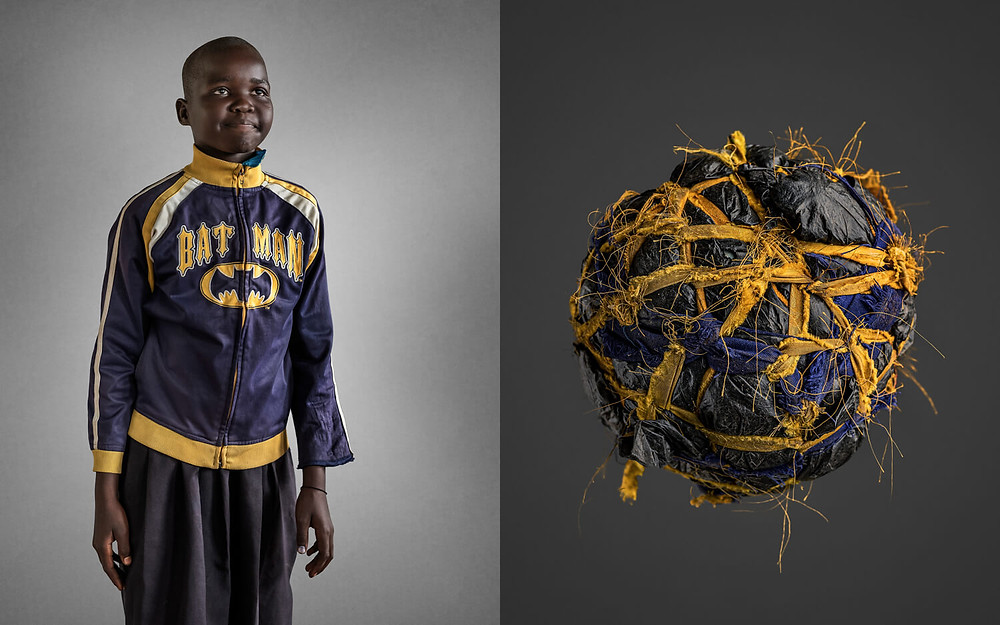Odilo Lawiny - Hand Made Soccer Balls by photographer Brian Hodges, in the Photoville Fence project