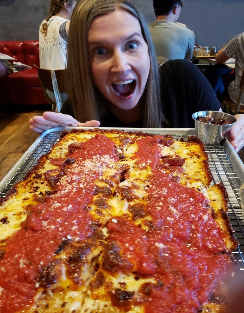 Nina & Rafi pizza on Atlanta BeltLine