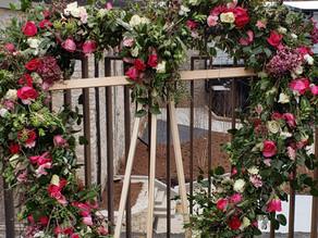 Floral Heart COVID Memorial on Atlanta BeltLine
