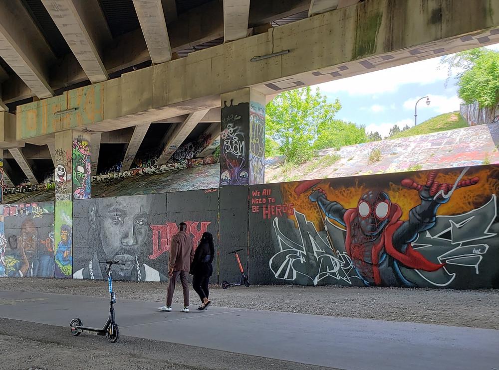 Street art on Atlanta BeltLine