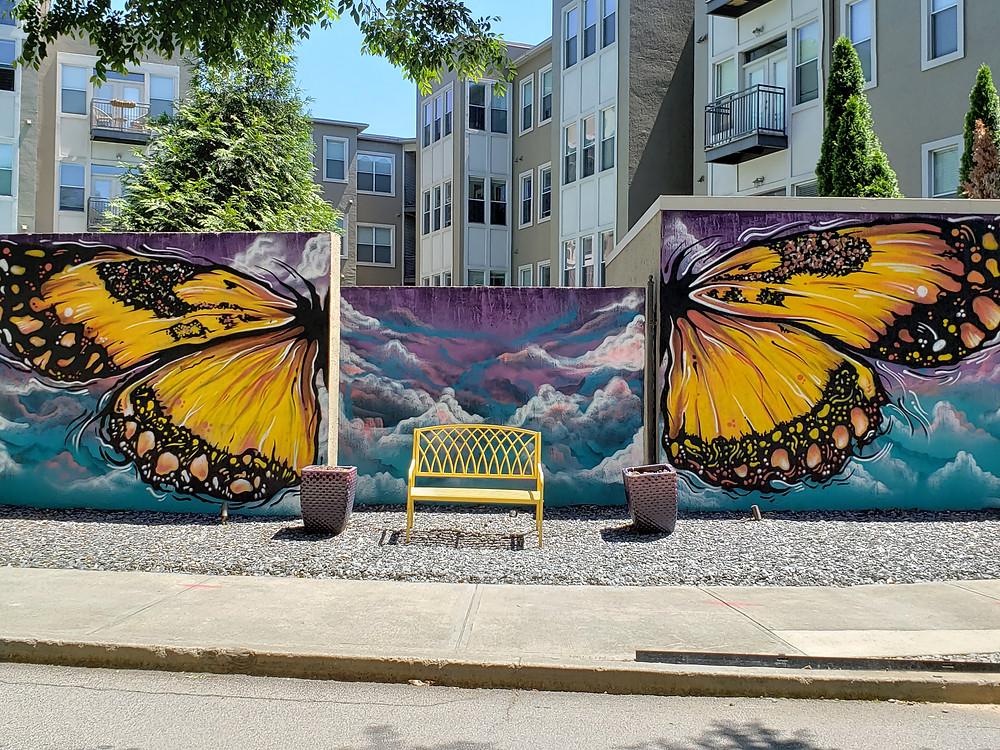 Random Direction mural on Atlanta BeltLine