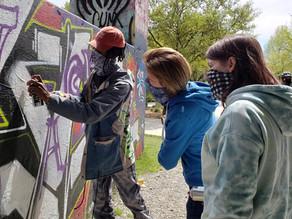 Graffiti Class on the Atlanta BeltLine