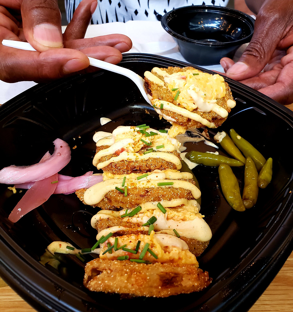 Fried green tomatoes at Soul Food & Culture
