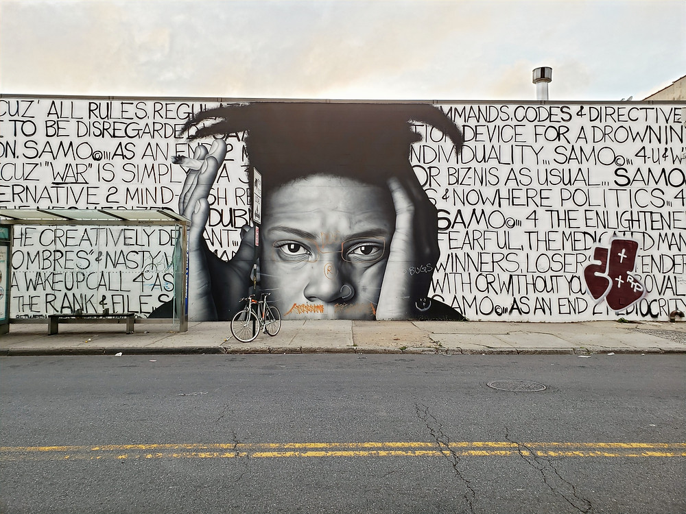 Basquiat mural in Brooklyn