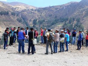 Jóvenes de Huari participaron  en pasantía para intercambiar experiencias en ganadería, cultivo de p