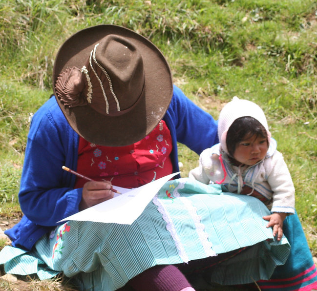 Capacitación en el campo- ONG Allpa Perú