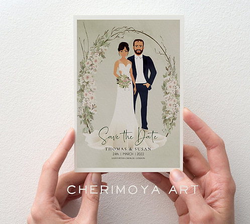CUSTOM ILLUSTRATED BOTANICAL SAVE THE DATE